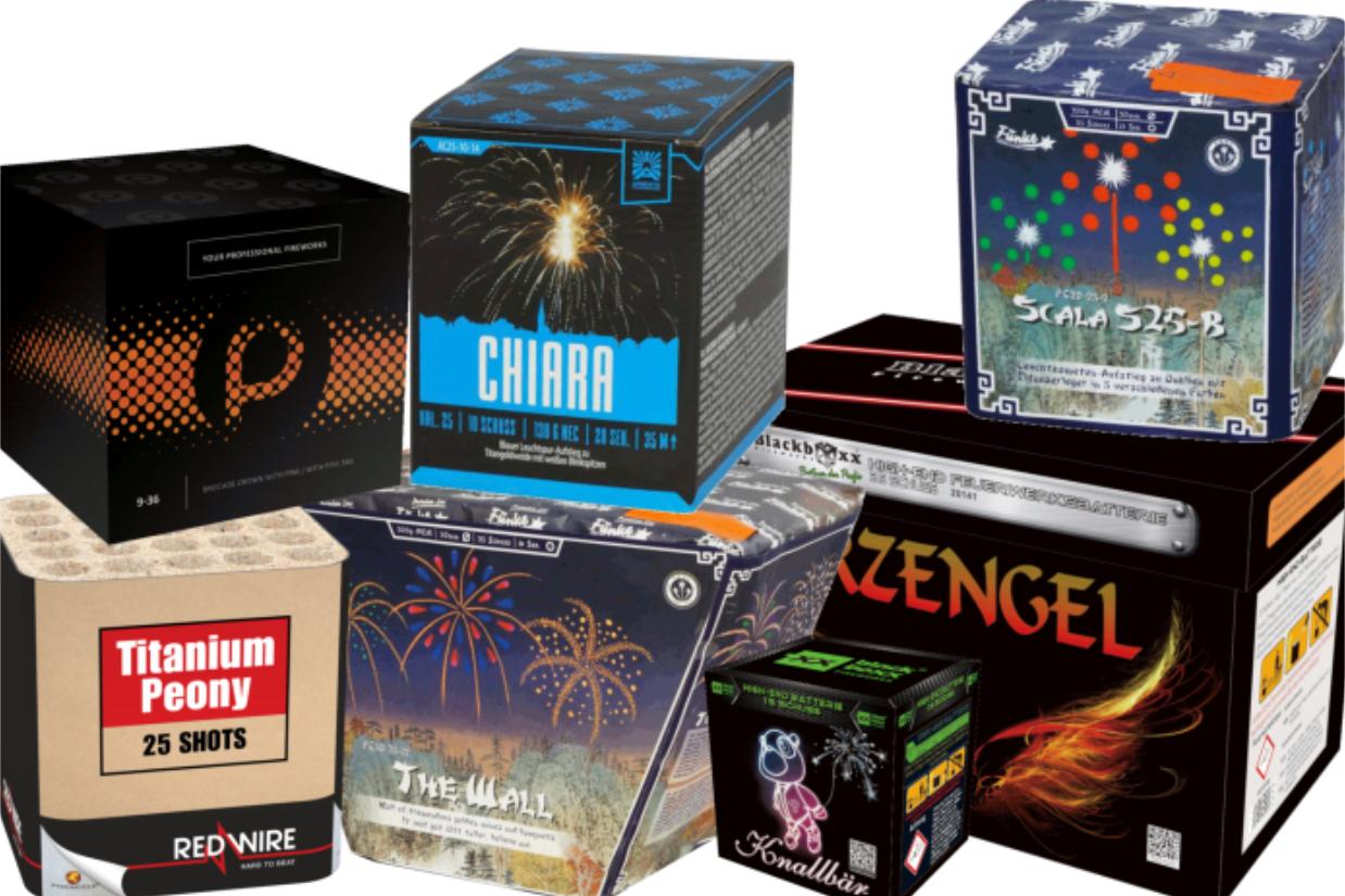 Onlineshop - Kategorie Batteriefeuerwerk (Silvesterfeuerwerk)