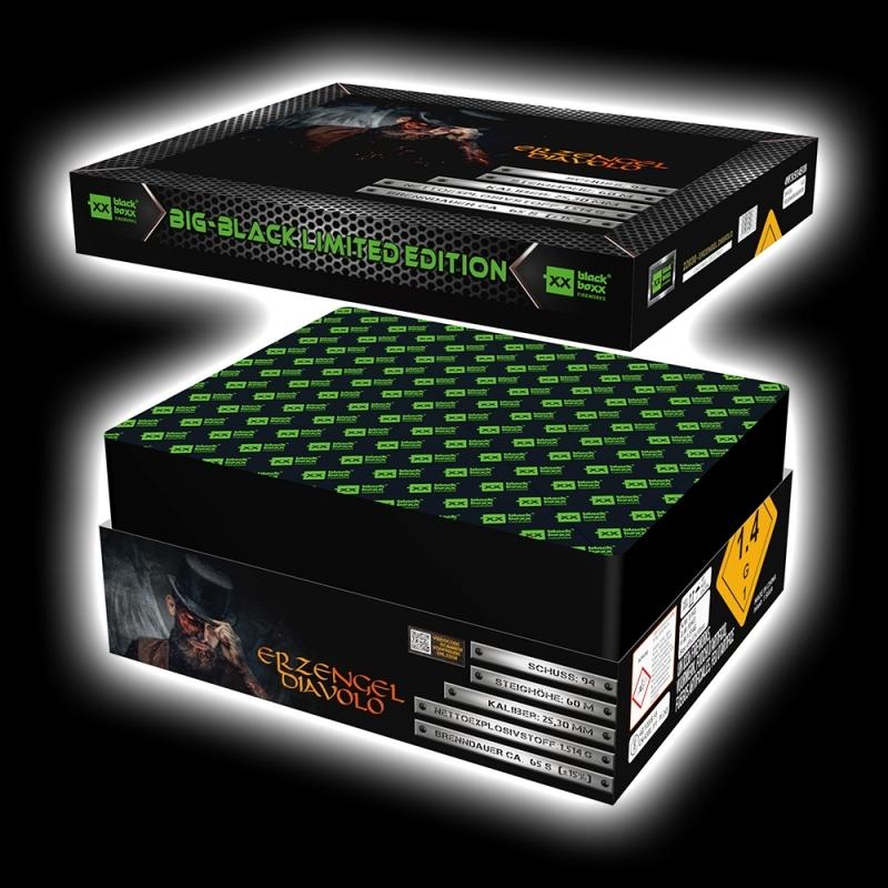 Erzengel Diavolo Verbundfeuerwerk von Blackboxx Feuerwerk /Firework- Feuerwerk online kaufen im Pyrographics Feuerwerkshop
