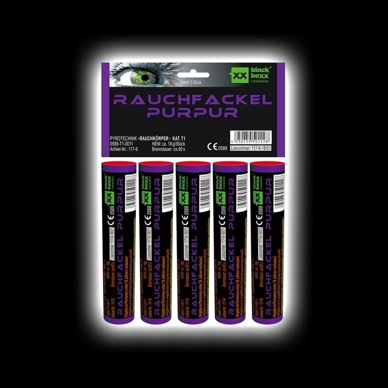 Blackboxx – Rauchfackeln 5er Pack Purpur