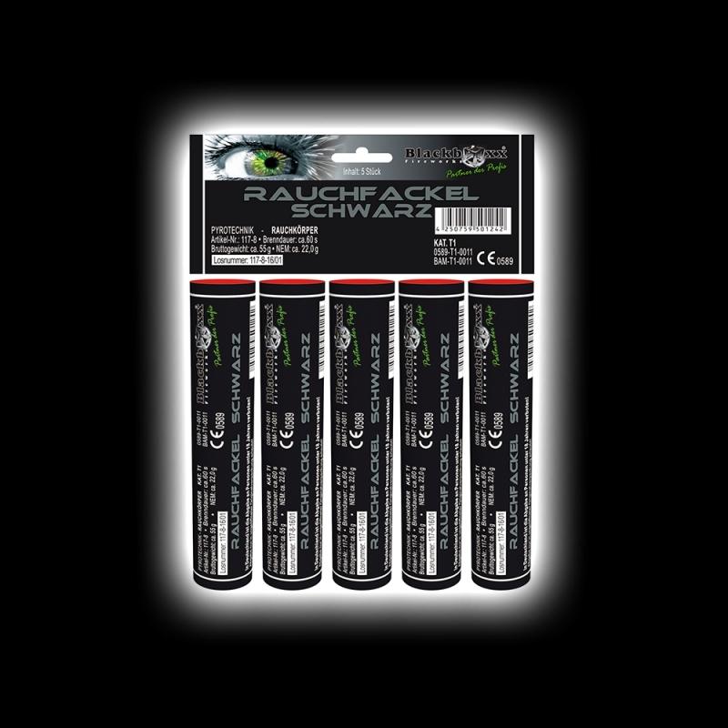 Blackboxx – Rauchfackeln 5er Pack Schwarz
