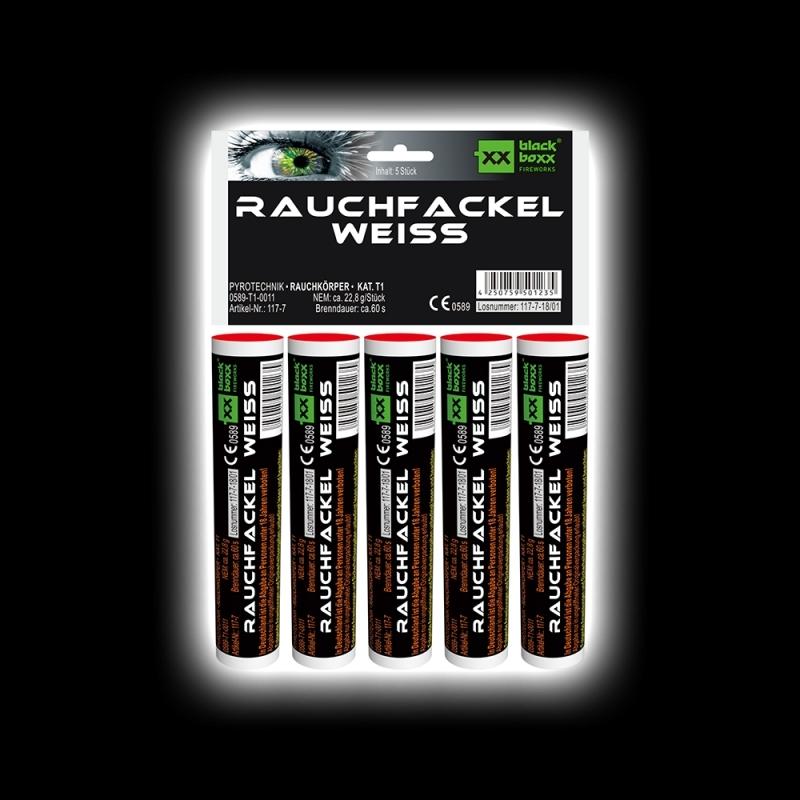 Blackboxx – Rauchfackeln 5er Pack Weiß