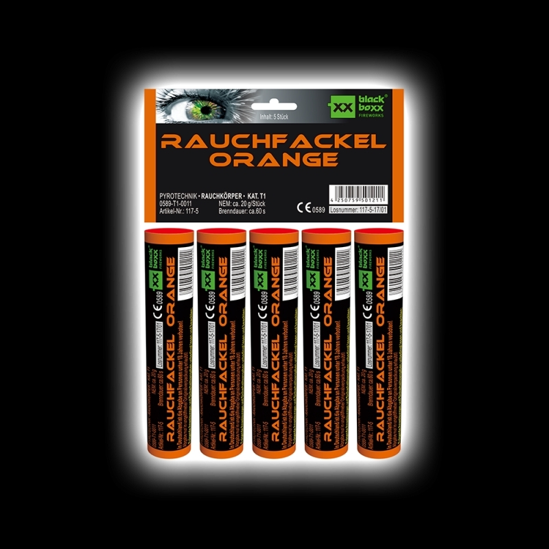 Blackboxx – Rauchfackeln 5er Pack Orange