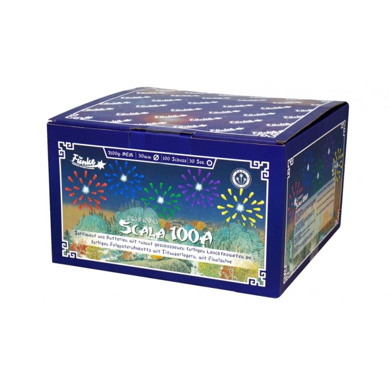 Scala 100A Verbundfeuerwerk von Funke Feuerwerk /Firework/Fajerwerkji- Feuerwerk online kaufen im Pyrographics Feuerwerkshop
