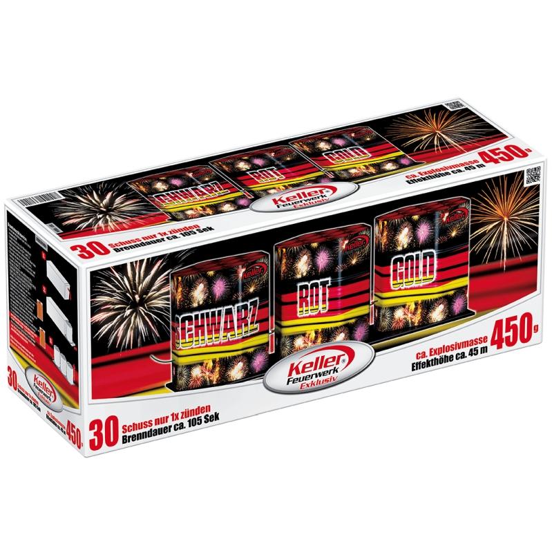 Schwarz Rot Gold von Keller Feuerwerk - Feuerwerk online kaufen im Pyrographics Feuerwerkshop