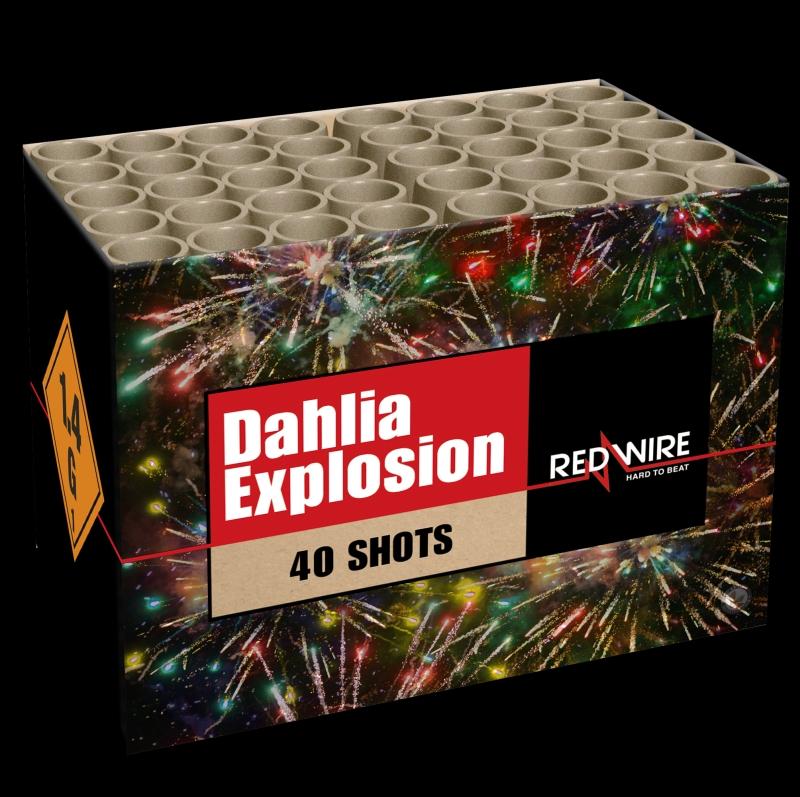 Dahlia Explosion Verbundfeuerwerk von Lesli Feuerwerk/Firework - Feuerwerk online kaufen im Pyrographics Feuerwerkshop