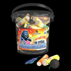 Feuerwerkmix Eimer von Lesli Feuerwerk/Firework - Feuerwerk online kaufen im Pyrographics Feuerwerkshop