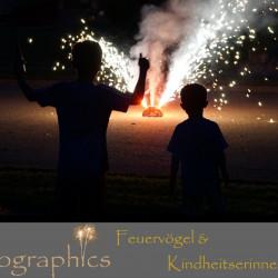 Feuerwerkspaket Feuervoegel und Kindheitserinnerungen exclusiv bei Pyrographics Feuerwerk online erhältlich