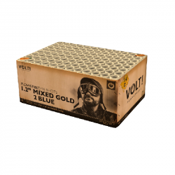 Volt - Mixed Gold to Blue Verbundfeuerwerk jetzt online bestellen im Pyrographics 365 Tage Feuerwerkshop