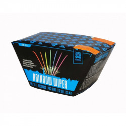 Rainbow Wiper - Argento stille Fächerbatterie online kaufen im Pyrographics 365 Tage Feuerwerkshop