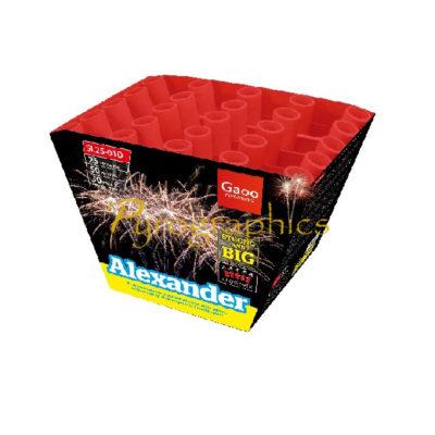 Gaoo Alexander Fächerbatterie im Onlineshop von Pyrographics Feuerwerk kaufen