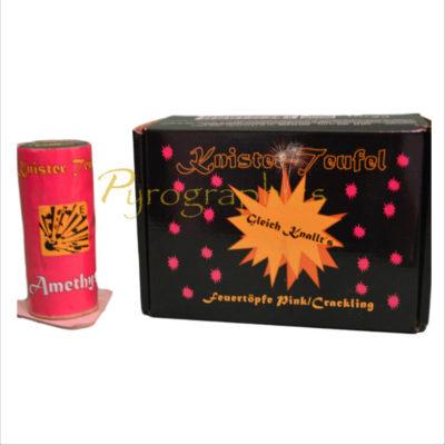 Knisterteufel in Pink (Amethyst) im Pyrographics Feuerwerk Onlineshop- Feuerwerk an 365 Tagen
